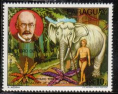 Stamp from Paraguay: The Jungle Book by Rudyard Kipling