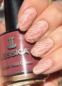 Gorgeous nail art from Ehmkay Nails using Haute Hippie from the new La Vie Boheme collection