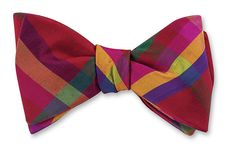 Red/Green/Yellow All Silk Bow Tie Hand-made in the USA Click for Bow Tie Styles R. Hanauer bow ties are made to order.  If you are unsure about a color or desig