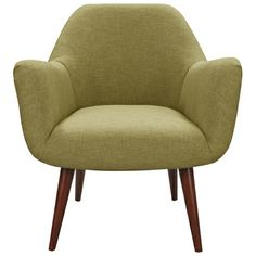 Olive green fabric on retro chair