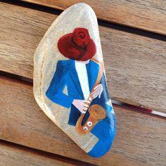 #Keith Mallett #art #painted #painting #acrylics #stone #pebble #rocks #jazz #N4Joy