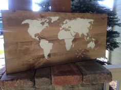 Items similar to Large World Silhouette with Compass Pallet Sign - Reclaimed Wood - Pallet Art - Wanderlust - Travel Gifts on Etsy Make Your Own Sign, How To Make, Better Books, Pallet Signs, Compass, Silhouette, Handmade Gifts, Pretty, Vintage