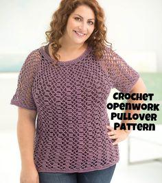 How To Make An Openwork Top Down Pullover Crochet Pattern | Free Crochet Patterns | Crochet Fashion | DIY Fashion