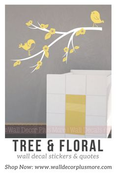 Tree, Floral, and accent wall vinyl decal stickers make any space come alive! Shop for your style and color!