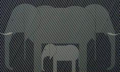 Charles/Charley Harper - Jumbrella - Signed - Ltd Ed #123 - Elephants