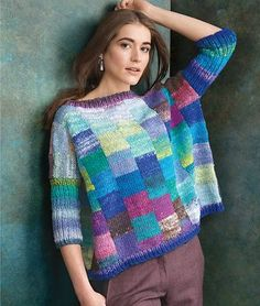 Ravelry: Squared pattern by Margie Kieper Knitting Patterns, Crochet Patterns, Creative Knitting, Stitch Fit, Knitting Designs, Hand Knitting, Knitwear, Knit Crochet, Couture