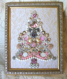 lovely pink jewelry tree