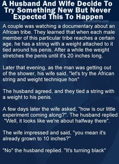 A Husband And Wife Decide To Try Something New But Never Expected This funny jokes story lol funny quote funny quotes funny sayings joke hilarious humor stories marriage humor funny jokes adult jokes