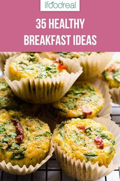 Cook ONCE, eat ALL week. These Easy Healthy Breakfast Recipes will keep you full… Cook ONCE, eat ALL week. These Easy Healthy Breakfast Recipes will keep you full until lunch. Clean Eating Snacks, Clean Eating Recipes, Cooking Recipes, Healthy Breakfast Muffins, Make Ahead Breakfast, Breakfast Ideas, Breakfast Calories, Health Breakfast, Healthy Family Meals