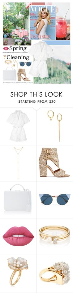 """You put rhythm to my heart"" by ita-varela ❤ liked on Polyvore featuring Alaïa, T By Alexander Wang, Wouters & Hendrix Gold, Fragments, Laurence Dacade, Mark Cross, Fendi, Lime Crime, Loren Stewart and Ross-Simons"