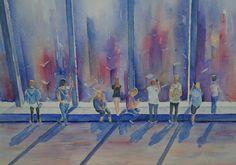 WTC New York - aquarel New York, Watercolor, Painting, Art, Pen And Wash, Art Background, New York City, Watercolor Painting, Painting Art