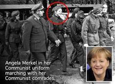 Angela Merkel under fire over Communist links as new image of her in uniform is released Germany Ww2, East Germany, Berlin Germany, Berlin Wall Fall, German Soldiers Ww2, Canadian Army, World History, New Image, Norse Mythology