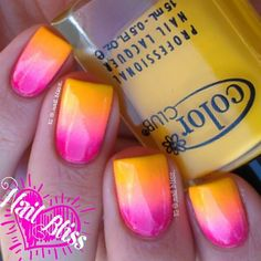 @NailBliss - gorgeous sunset gradient mani