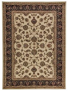 Well Woven Barclay Sarouk Ivory Traditional Area Rug 311 X 53 ** Visit the image link more details.