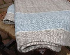 Hand Woven Merino Wool Baby Blanket by NordtFamilyFarm on Etsy