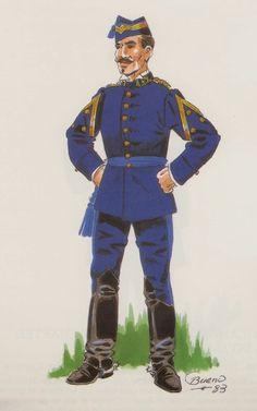 Estado Mayor 1876 Capitán de cuartel y campamento