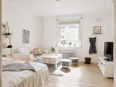 découvrir l'endroit du décor : DU BLANC POUR UN PETIT ESPACE #interiordecoration