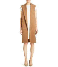 ShopBazaar Alexander Wang Oversized Wool Vest FRONT