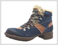 Marco Tozzi  2-26221-21, Damen Trekking & Wanderschuhe Blau blau, Blau - blau - Größe: 36 - Stiefel für frauen (*Partner-Link)