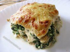Mini lasaña de espinacas - http://www.monstruorecetas.es/2014/04/lasanaespinacas.html