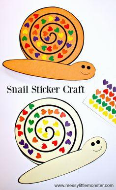 Snail Sticker Craft