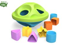 My First Green Toys™ Shape Sorter - BPA Free, Non-Toxic & Made In USA!  Neat website of all green toys/plates, etc