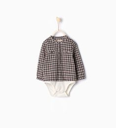 Image 1 de Body chemise à carreaux de Zara