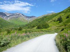 Girdwood road to Crow Pass Trail, Chungah Nat. forest , Alaska, PLeinAirEnVR