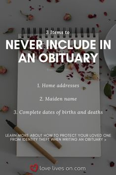 Read this collection of the best obituary examples to help make writing easier. Includes examples of obituaries for mom, dad, children, grandparents & military. Funeral Planning Checklist, Family Emergency Binder, When Someone Dies, Will And Testament, Life Binder, Aging Parents, After Life, Life Plan, Writing Help
