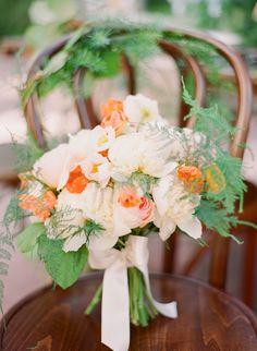coral peach bouquet