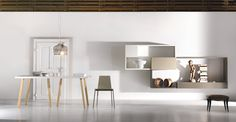 Trestle Table + 36e8 storage #living #lagodesign #white
