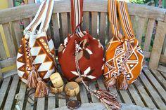 beautiful earthy tone mochila bags and coconut shell cuffs!