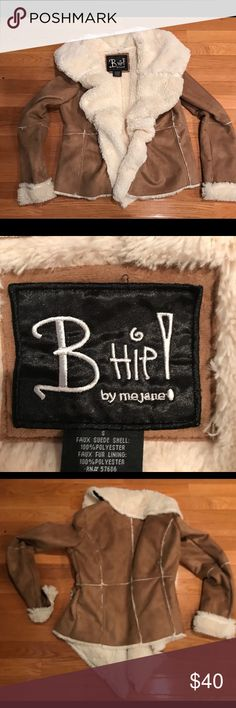 B Hip! By me Jane Tan Shearling Jacket Fur Lining Super trendy Boho tan shearling jacket with soft fur lining. Size M. B Hip Jackets & Coats