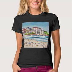 (Bondi Beach Living T-shirt) #Sand #ABeaches #Acrylic #Beach #Bondi #Gillsart #Northern #Summer #Surf is available on Funny T-shirts Clothing Store   http://ift.tt/2cHtgcp