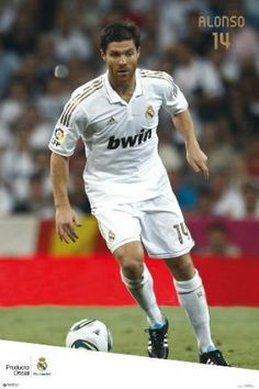 """Xabi Alonso Real Madrid Poster - Season 11/12, Ships from USA by Real Madrid. $11.95. Rolled and tubed. Official licensed Real Madrid Product. New Season 11/12 poster featuring Playmaker Xabi Alonso.. Measures 24"""" x 36 """". Full color professional photography. One of the World's red-hot Soccer stars !  This is a brand new 2012 poster of Galactico Xabi Alonso.  A must-have for all Real Madrid fans !"""