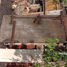 Industrial salvage @ Marshall's Antique Warehouse. Cool metal door