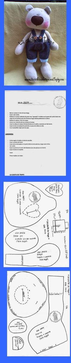 MUÑECAS DE TRAPO: Moldes e instrucciones de armado. Más