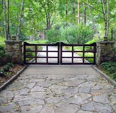 Top 60 Best Driveway Gate Ideas - Wooden And Metal Entrances Introduce your home in style and with the top 60 best driveway gate ideas. Explore unique wooden, metal and iron entrances for your estate.