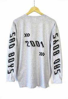Sad Boys Heather Grey Long Sleeve T-shirt: Amazon.de: Bekleidung
