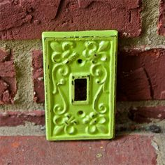 Lime Green Decorative Light Switch Plate