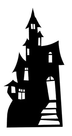 Large Cardboard Cutout of Small Haunted House (Silhouette) (Halloween) huge selection of movie, music and celebrity cutouts, standees and standups available now at Starstills.com