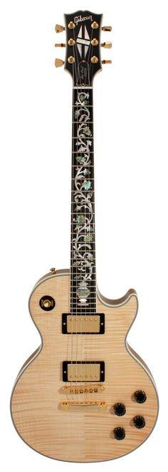 Gibson Custom Shop Electric Guitar Les Paul Custom Figured Top Tree of Life Natural | Rainbow Guitars