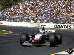 1998 Formula 1 Australian Grand Prix - Mika Hakkinen. Albert Park Melbourne, Australian Grand Prix, Rally Car, Formula 1, F1, Circuit, Cars, History, Pictures