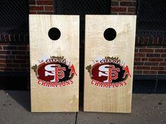 """City Of Champions"" San Francisco 49ers and Giants custom baggo set"