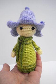 Crochet Pattern Amigurumi Doll Flower Doll Bluebell Bonnie