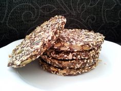 Paleo approved seed crackers