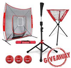 Baseball Softball Net w/ Strike Zone, 3 Training Balls, Travel Tee, & Ball Caddy – Giveaway