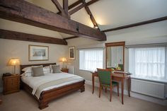 Deluxe bedroom at Goldsborough Hall. Image by Peter Boyd Photography