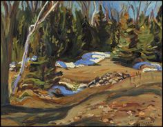 """Sebastopol,"" Alexander Young (A.) Jackson, oil on board, 10 x 13 private collection. Group Of Seven Artists, Group Of Seven Paintings, Canadian Painters, Canadian Artists, Tom Thomson Paintings, Ottawa Valley, Jackson, Emily Carr, Most Famous Artists"