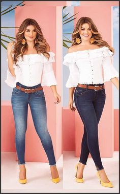 Blouse white and Jean Outfits 2016, Cool Outfits, Fashion Outfits, Trouser Outfits, Denim Outfit, How To Wear White Jeans, Lace Jeans, Preteen Fashion, Stylish Jeans